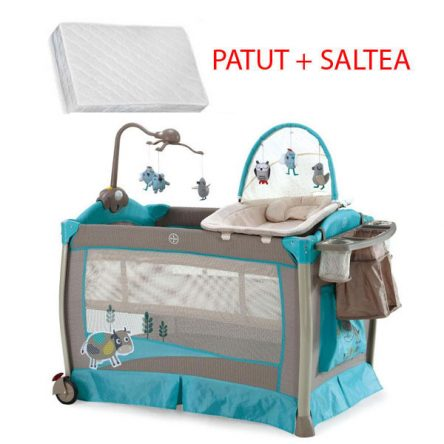 Krausman – Patut Play Yard Luxury + Saltea Cocos